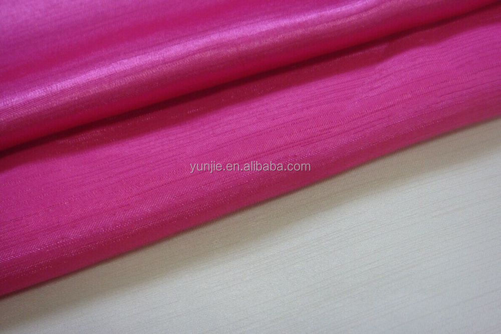 Satin Back Shantung Fabric, Polyester Shantung Satin Fabric
