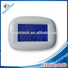 Multifunctional weather station lcd clock with temperature trend