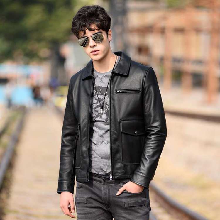 high quality mens biker custom cow leather jackets