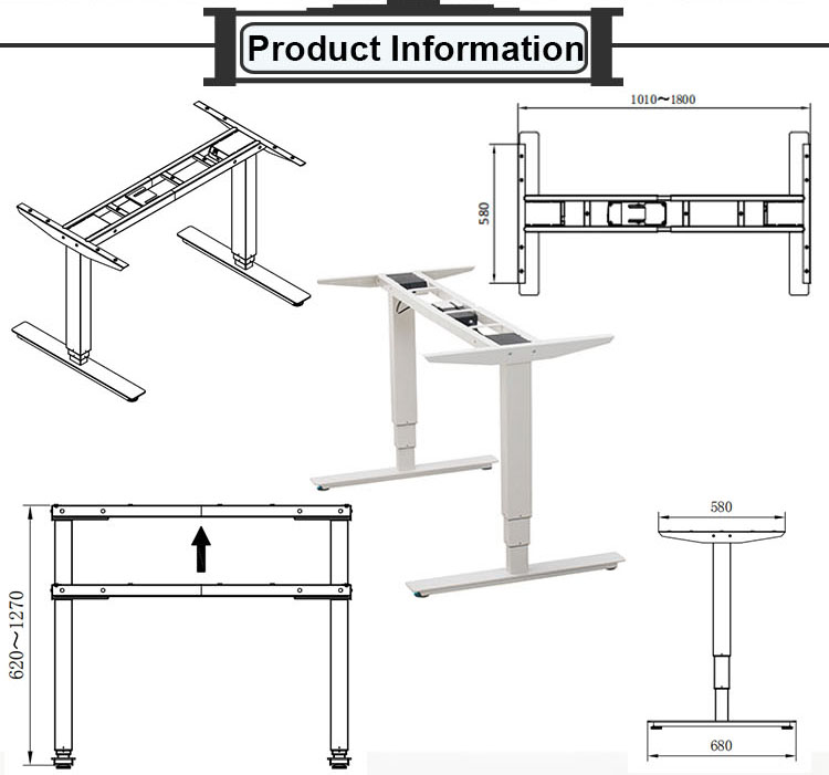 Factory Custom Electric Adjustable Standing Executive Office Computer Lifting Desk For Gaming
