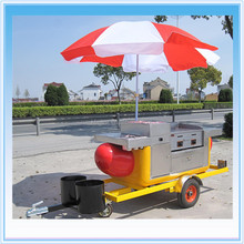Factory Directly Supply Mobile Commercial Hot Dog Cart For Sale