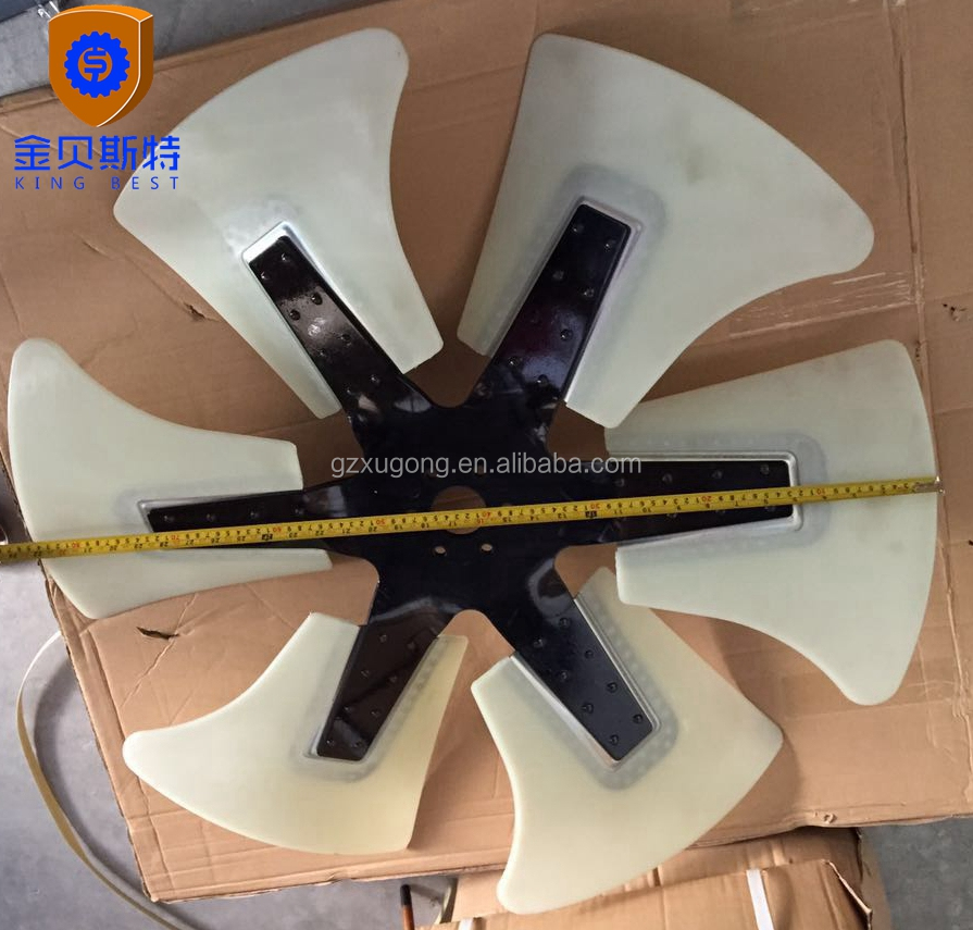 excavator PC300-6 diesel engine 6D108 cooling fan,fan blade 600-635-7850