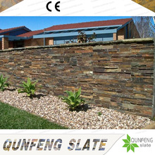 CE Passed Antacid Brown Natural Stone Wall Cladding Rough Slate Tile