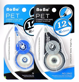 Factory price corrector washi Japanese pet 12 meters correction tape