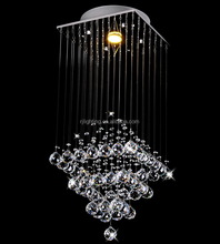 China wholesale cheap lampara de cristal stainless steel pendant lamp modern crystal lighting