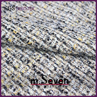 Top Sales Cotton/Polyester/Wool Blending Tweed Fabric with Metallic Yarn