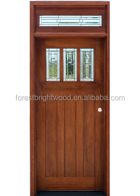 Single front entry solid wood glass door design buy wood for Single front doors with glass