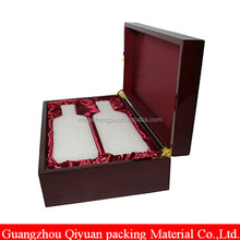 Wholesale custom luxury wine wooden gift box with your own logo