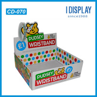 Hot sell Custom wristband display counter display 1 euro store