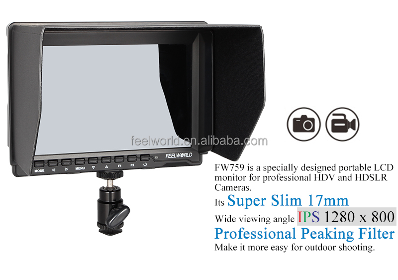 FEELWORLD 1080p 7 inch hdmi led monitor with ips panel