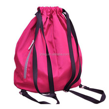 New recycle custom 210d nylon drawstring backpack with LOGO pattern