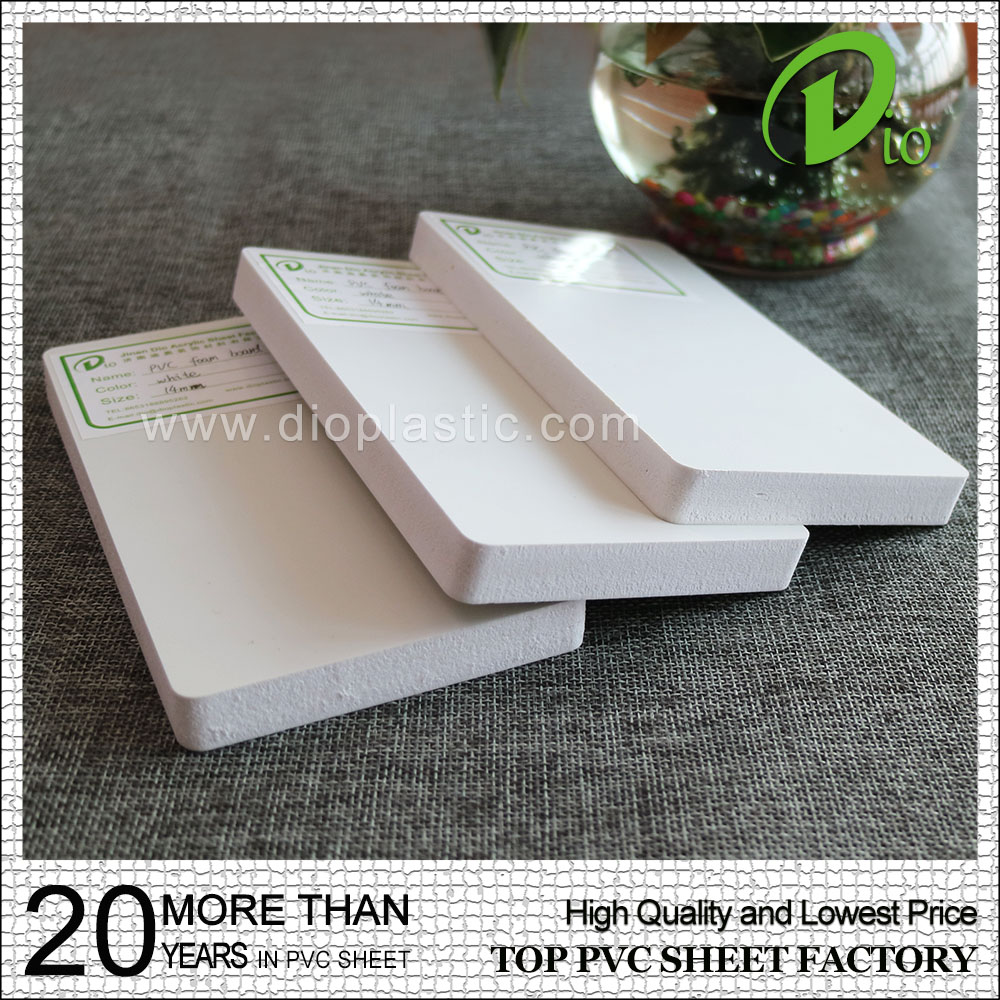 5mm 6mm 4 x 8 white high density pvc foam board for decoration