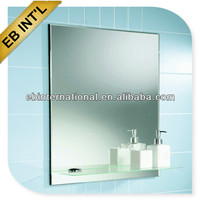 3- 8mm bathroom mirror with glass shelf