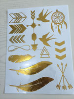 hot-selling ftemporary metallic tattoo,gold and silver tattoo stickers