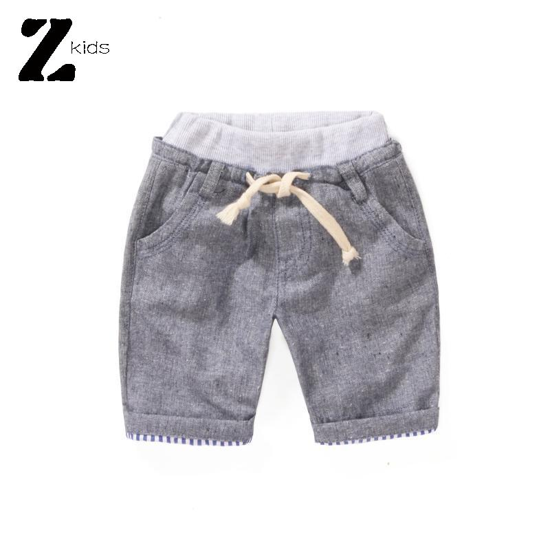 Top Quality New Hot Summer 2015 Boys Shorts Linen Casual Elastic Waist Short Pants Kikikids Children Clothes Kids Sports Pants