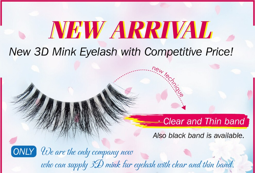 New Arrival Custom Eyelash Packing 3D Mink Strip Eyelash