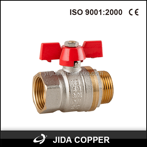 China manufacture natural gas pipeline part brass ball valves