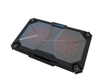 New item double fans laptop cooling pad for 17inch notebook