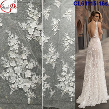 CL61115-4 ladies party wedding lace white color french lace fabric
