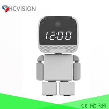 HD 960P spy camera alarm clock two way speaker wireless cctv camera wall clock with a video camera