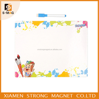 Hot sell custom magnetic notepad and pen,erasable fridge magnet