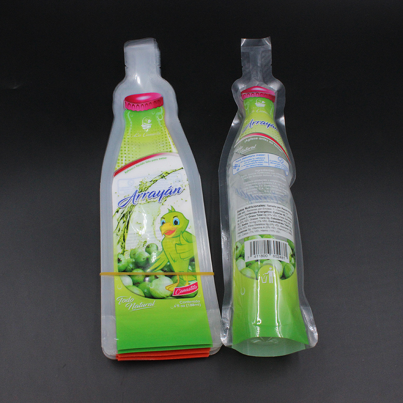 Composable 188ml plastic energy drink packaging bag
