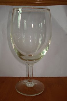 glass goblet and shot glass
