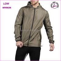Cheap price nylon custom windbreaker jacket with hood