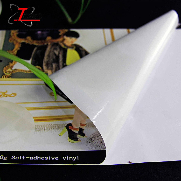 inkjet self adhesive white vinyl dye, vinyl advertising material for vehicle wrap, vinyl sticker waterproof