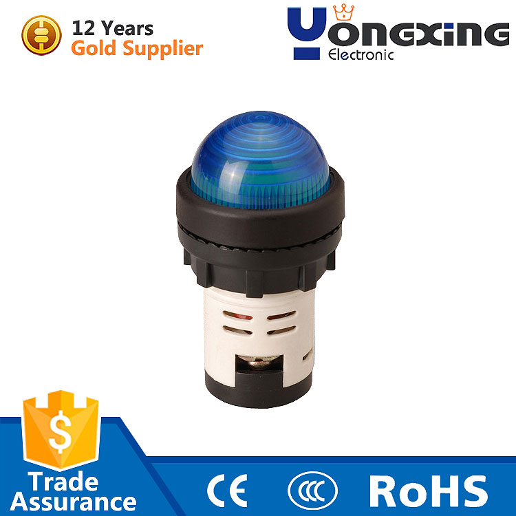22mm 24v blue round dual color spherical surface ball head illuminating pilot lamp led indicator light