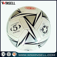 official size and weight soccer ball football free with net bag