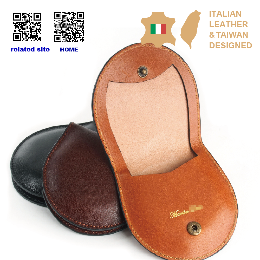 Fashion Italian Vegetable Tanned Genuine Leather small coin purse