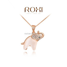 ROXI Fashion Jewelry Rose Gold Opals Necklace with Imported Alloy wholesale