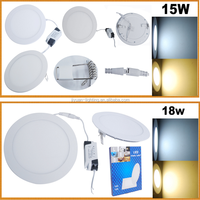 Super Bright Dimmable Round Ceiling Downlight Lamp 15 Watt LED Panel Light, LED Recessed Ceiling Panel