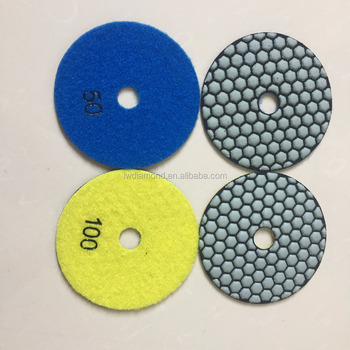 House Hardware Korea Quality Dry Diamond Polishing Pads Diamond Tools for Granite Marble Concrete Stone Granite
