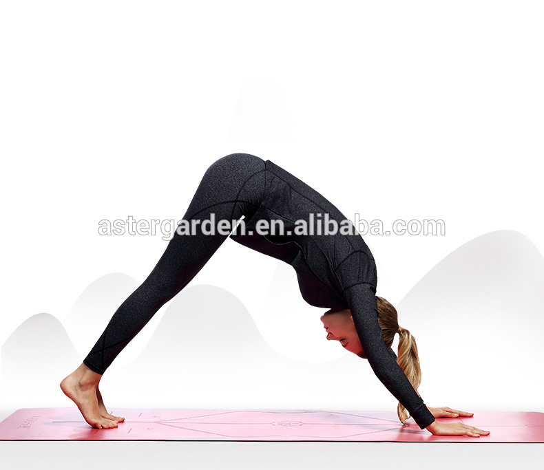 Eco-Friendly Black Body Line Design TPE Yoga Mat