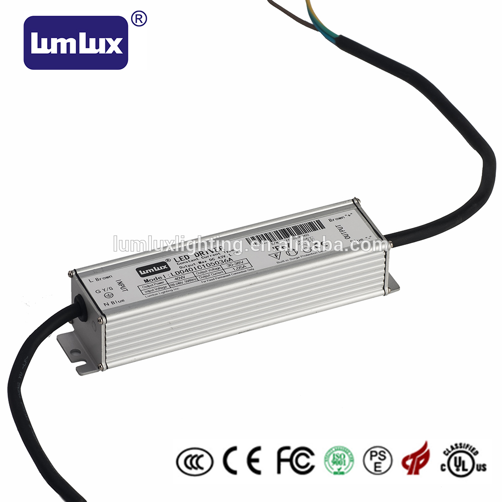 40W waterproof IP67 constant current led driver 3 years warranty 40W