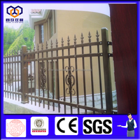 Factory cheap pvc coated decorative security tubular fence/yard guard spear picket fence/pvc coated residential area fence