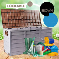 Plastic case with handle & wheels, 290L garden plastic shed with handle & wheels, PP case