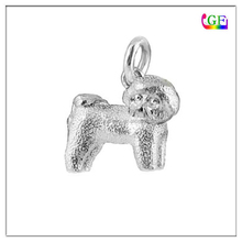 Dog breeds Bichon Gold Silver dogs earrings charm