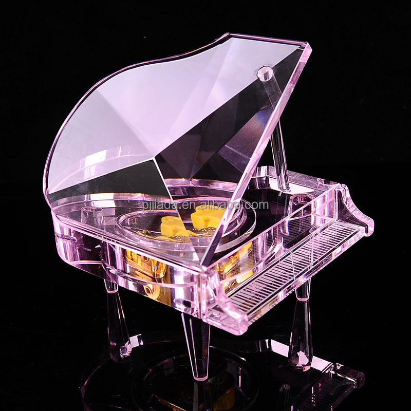 Hot sale creative birthday gift crystal piano holiday souvenir crystal ornament