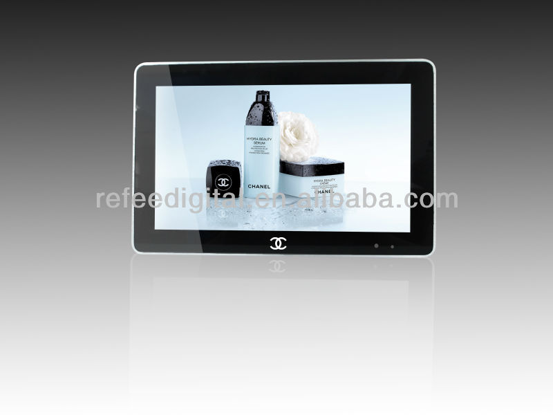 lcd touch screen advertising taxi headrest display