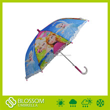 Straight auto open metal frame sun rain nylon umbrella pictures for kids