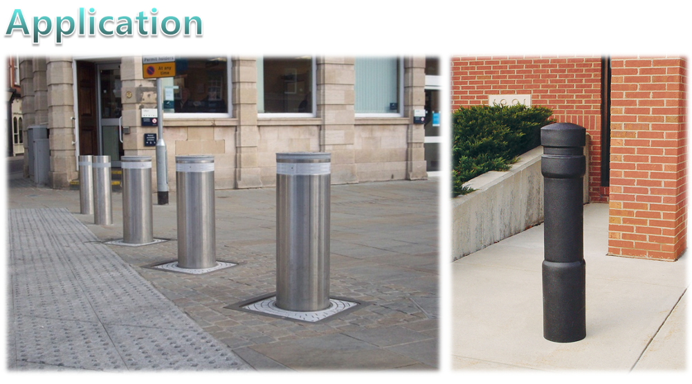 Factory price stainless steel breakaway/fixed parking bollards,safety poles