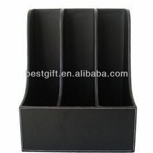 leather organizer file holder for car with 3 big slot