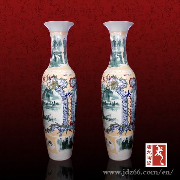 Hand painted Home Goods Decorative Tall Porcelain Large Floor Vases