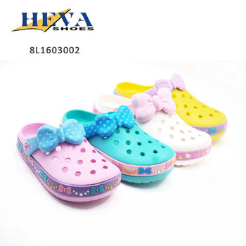 Girls Women Candy Color Bowknot Straps Eva Garden Shoes