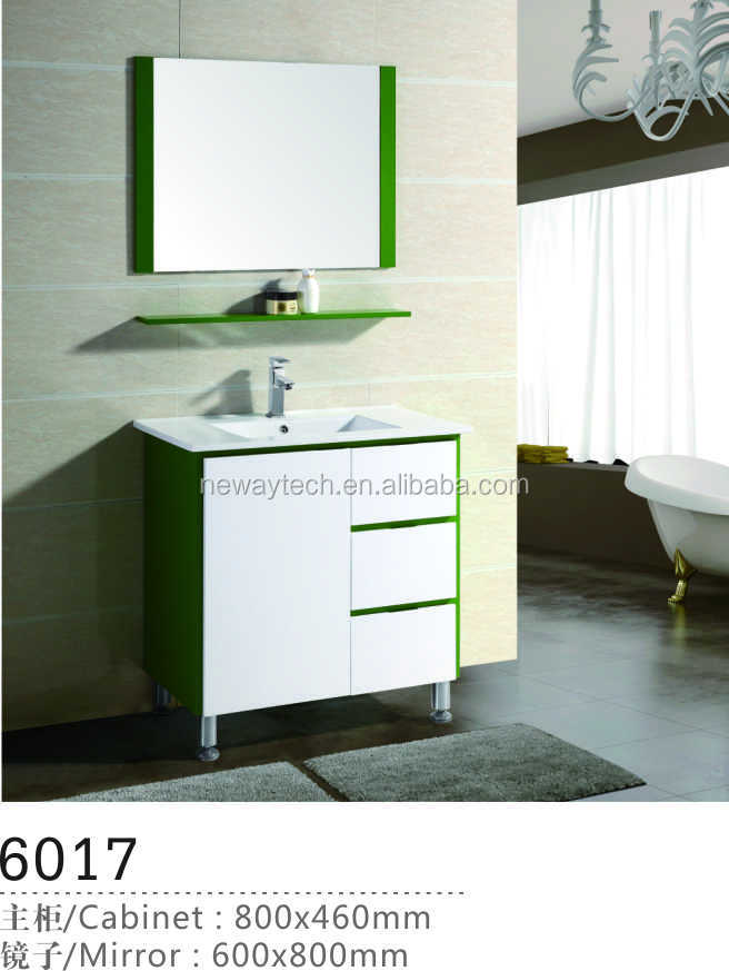 Floor standing pvc vanity fair bathroom furniture with mirror