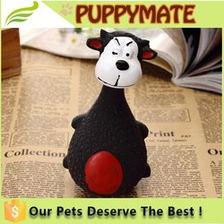Hot selling high quality rubber animal toys for dogs and cats/pet squeak toys/safe children toys