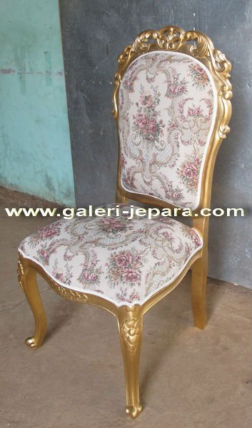 Antique Reproduction Italian Dining Chair - Furniture Manufacture -Gold Furniture Indonesia Manufacturer